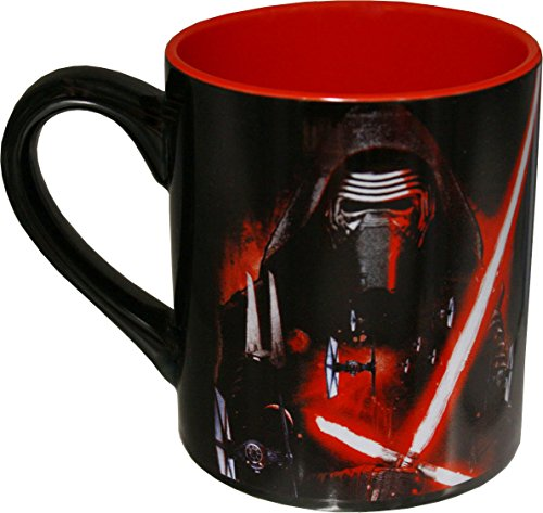 Star Wars Silver Buffalo SE0432 Disney Star Wars Ep7 Lead Villain Poster Ceramic Mug, 14 oz, Multicolor