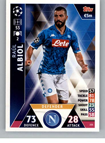 2018-19 Topps UEFA Champions League Match Attax #221 Raul Albiol SSC Napoli Soccer Trading Card