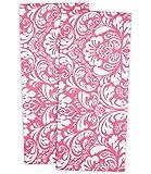 "DII 100% Cotton, Washing, Drying, Damask Printed, Everyday Basic Kitchen Dishtowel, 18 x 28"" Set of 2- Pink"