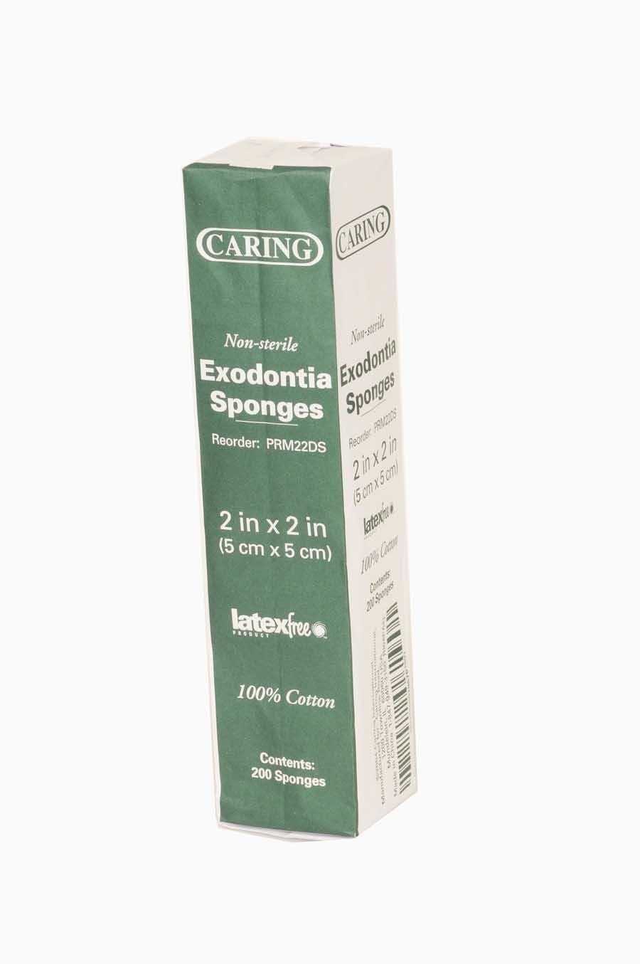 Medline PRM22DS Caring Cotton Filled Non-Sterile Dental Sponges, 2'' x 2'' (Pack of 5000)