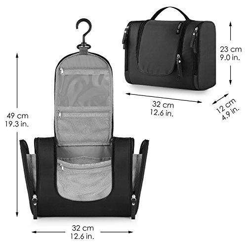 Noir FOREGOER Trousse de Toilette Voyage Grande Sac de Toilette cosm/étiques /à Suspendre