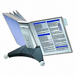DURABLE SHERPA 10-Panel Desktop Reference System, Gray Borders (554210)