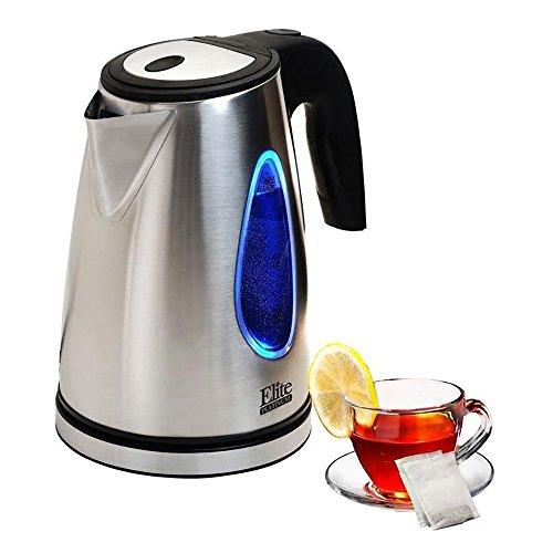 Boiler Electronic - Elite Platinum EKT-1271 1.7 L Stainless Steel Cordless Tea Kettle