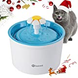 Hommii Pet Water Fountain, Cat Dog Drinking Bowl, Flower Style, Automatic Electric, Water Capacity 1.6L