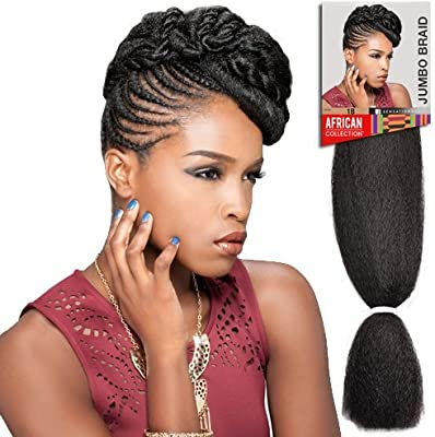 Amazon Com Sensationnel Braid Now 100 Kanekalon Fiber 4 Hair Extensions Beauty
