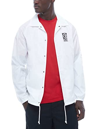 dc5ebd525b Image Unavailable. Image not available for. Color  Vans Torrey White Black  Men s Coaches Jacket ...