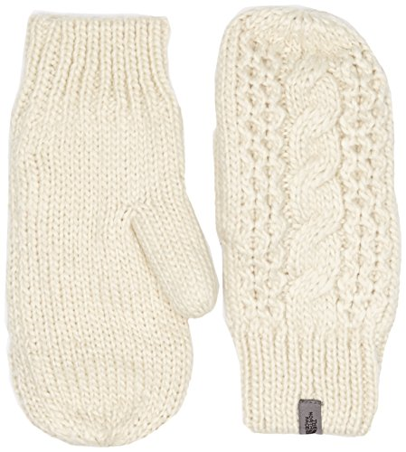 Knit Women's Mittens Gloves, Vintage White, Large/X-Large ()