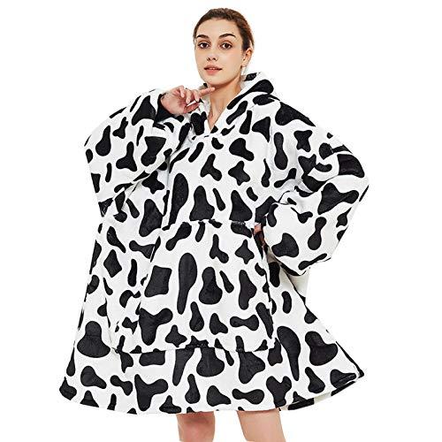 Overmaatse capuchondeken, capuchonsweater deken, bedrukte capuchondeken van flanel, super zachte tv-deken, gezellige…
