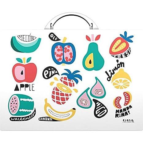 Grafoplas Elena Corredoira - Maletín, diseño de frutas: Amazon.es: Oficina y papelería