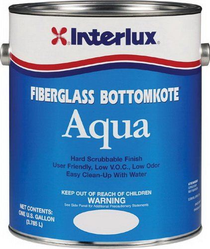 Interlux YBA579/1 Fiberglass Bottomkote Aqua Antifouling Paint (Black), 128. Fluid_Ounces
