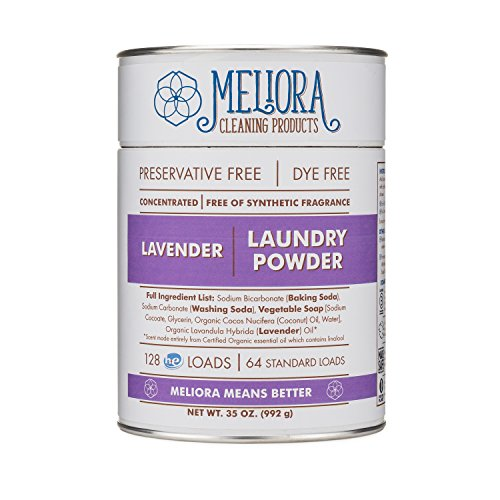 Meliora Cleaning Products Laundry Powder, Lavender, 128 HE (64 Standard) Loads (Country Jobs Products Home)