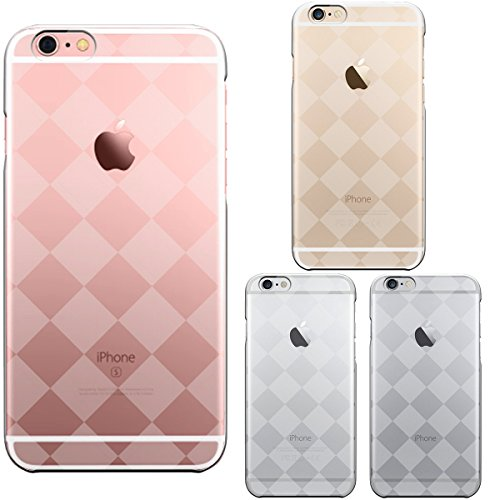 iPhone6 case 4.7 inch case shell Transparent Skin Check Diamond (Graphite Damier)