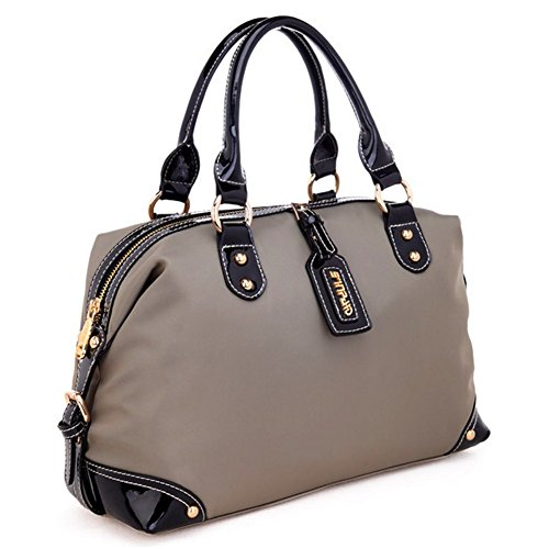 Kaisasi 2016 Summer Female Bag Leather Ms Portable Fashion Handbags Water Ripples(khaki)