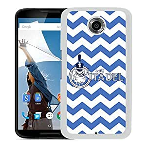 NCAA Citadel Bulldogs 03 White Google Nexus 6 Protective Phone Cover Case