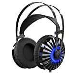 Gaming Headset with Unique Metal Diaphragm and Mic,Provides Excellent 7.1 Virtual Surround Stereo Sound for PC,Laptop,PlayStation 4,X-box one(Splitte Included)