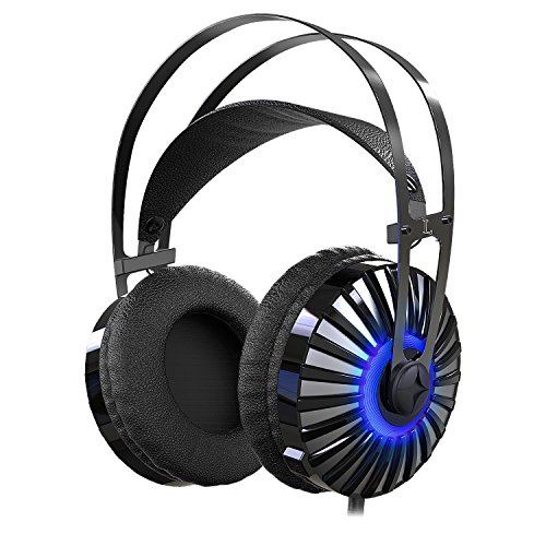 51JETjPhw%2BL - Gaming Headset with Unique Metal Diaphragm and Mic,Provides Excellent 7.1 Virtual Surround Stereo Sound for PC,Laptop,PlayStation 4,X-box one(Adapter Included)for Young Gamer with Unique Taste