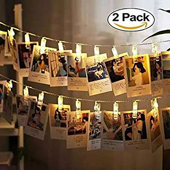 LED String Lights With Photo Clips Battery Operated Indoor Outdoor  Decorative Fairy Lights For Bedroom, Part 82