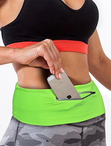 JenniWears Running Belt Zipper Pocket for iPhone 6/6s/7/7 Plus, Fitness Workout Terra Belt for Women and Men - Waist Fanny Pack for Cycling Hiking Walking Climbing