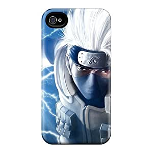 Rugged Skin Case Cover For Iphone 4/4s- Eco-friendly Packaging(kakashi Hatake)