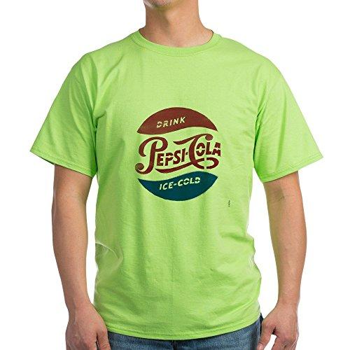 (CafePress Pepsi Cola Ice Cold Light T Shirt 100% Cotton T-Shirt Green)