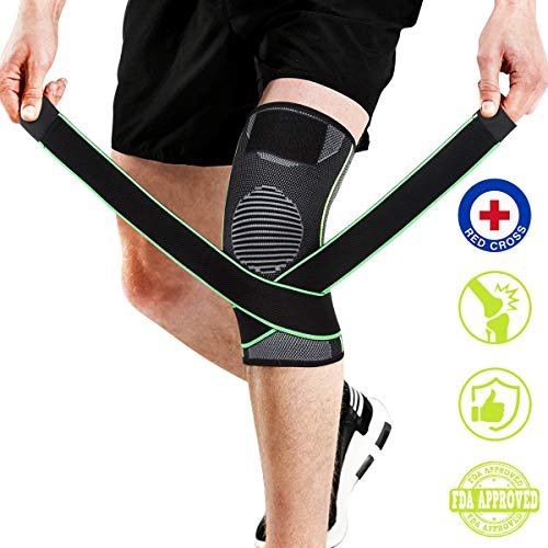 Strap Stabilizer (Knee Brace,Knee Sleeve Compression with Strap for Best Support, LCL Patella Knee Brace Stabilizer for Running Basketball Durable Knee Brace for Women & Men)