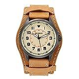 CURREN Original Good quality Men's Sports Casual Waterproof Leather Quartz Wrist Watch 8279 (Brown yellow)