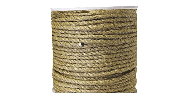 644861TV Twisted 1//4x850 Twis Sisal Rope MIBRO Group The