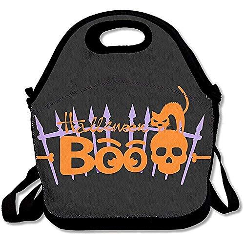 Emmwhite Lunch Bag Men Lunch Bag Women Halloween Night Trick Treat Vampire Cat Lunch Bag Lunch Box Food Bag Lunch Bag Adults Lunch Bag Kids ()