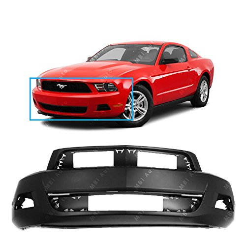 MBI AUTO – Primered, Front Bumper Cover Fascia for 2010 2011 2012 Ford Mustang Base 10-12, FO1000652