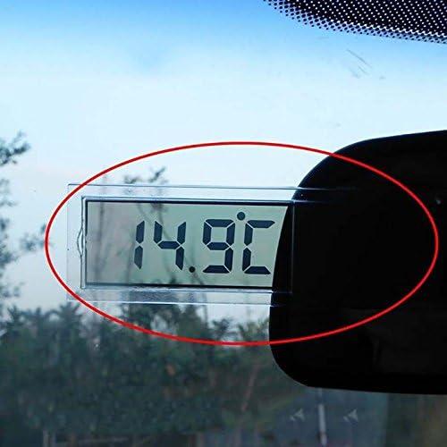 Sedeta V/éhicule de voiture /à lint/érieur Mini Vintage Moniteur LCD Accueil Horloge num/érique daffichage Avec Ventouse Petit Portable Horloge de voiture pour voiture v/éhicule automobile pour la voitur