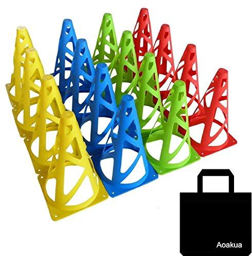 Aoakua 23cm 마커 콘 경량 타입 전4 색수납 가방 세트 (16개(전4색-각4개))