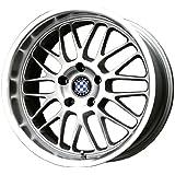"Beyern Mesh Silver Machined Wheel (18x9.5""/5x120mm)"