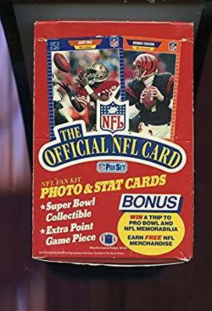 1989 Pro Set Series 1 Football Box Christmas Gift