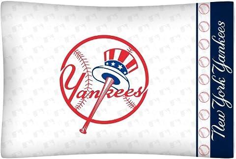 MLB New York Yankees Micro Fiber Top Hat Pillow Case Logo - New York Yankees Fabric