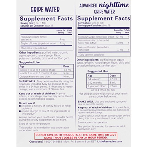 Little Remedies Day & Night Gripe Water Value Pack | Herbal Supplement | 2 Bottles | Gently Relieves Stomach Discomfort from Gas, Colic, and Hiccups | Safe for Newborns by Little Remedies (Image #3)