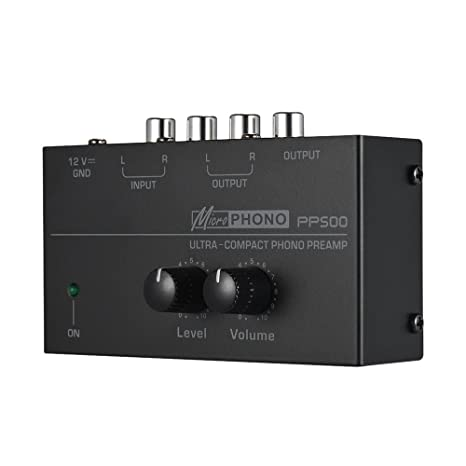 top fashion sleek best deals on Muslady Ultra-compact Phono Preamp Preamplifier with Level & Volume  Controls RCA Input & Output 1/4