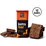 Health & Personal Care : Perfect Keto Protein Snacks - Box of 12 Bars - Low Carb Diet Friendly with Coconut Oil, Collagen, No Added Sugar - Sweet Treat in Almond Butter Brownie Flavor - Individual Packs for Travel, Hiking