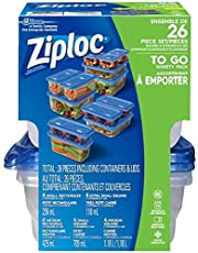 Ziploc To Go Storage Containers, Variety Pack, 26 Count