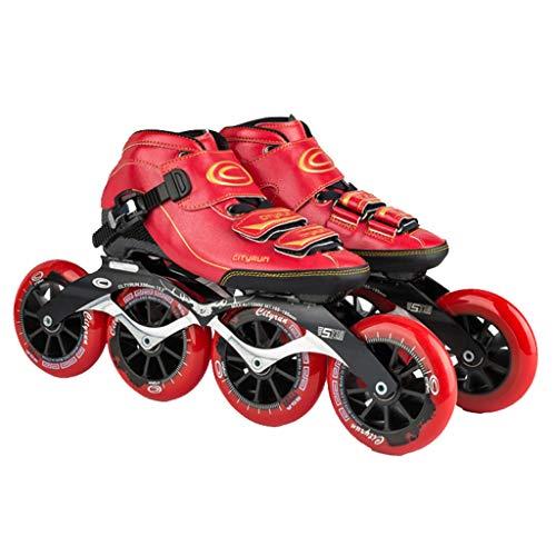 ねばねばことわざ乱気流LIUXUEPING ローラースケート、 スケート、 プロのスピードスケートシューズ、 レーシングシューズ、 炭素繊維熱可塑性樹脂 ビッグケーキのスケート 子供用ローラースケート (色 : 青, サイズ さいず : 37)