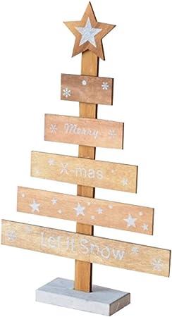 BESTOYARD Mini árbol de Navidad de Madera con Estrella Decoraciones de Mesa para Navidad Adornos de Navidad Color de Madera Original: Amazon.es: Hogar