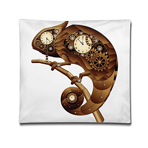 - Kjaoi 1818 Inches Pillow Case Clock Lizard Comfortable Soft Bed Pillow Case Household Pillow Case Office Bolster