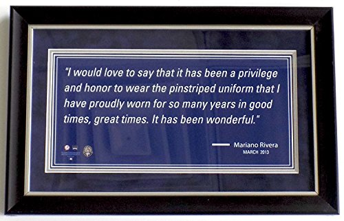 Yankee Framed Mini - Mariano Rivera New York Yankees Framed Mini Quote 9x16