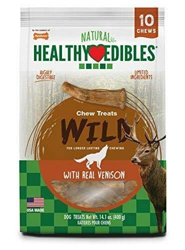 Nylabone Healthy Edibles Edible Antler Real Venison 10pk
