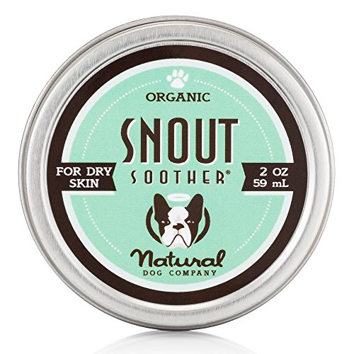 Natural Dog Company - Snout Soother | All-Natural Remedy for Chapped, Crusty, and Dry Dog Noses | Veterinarian Recommended - 2 Oz Tin