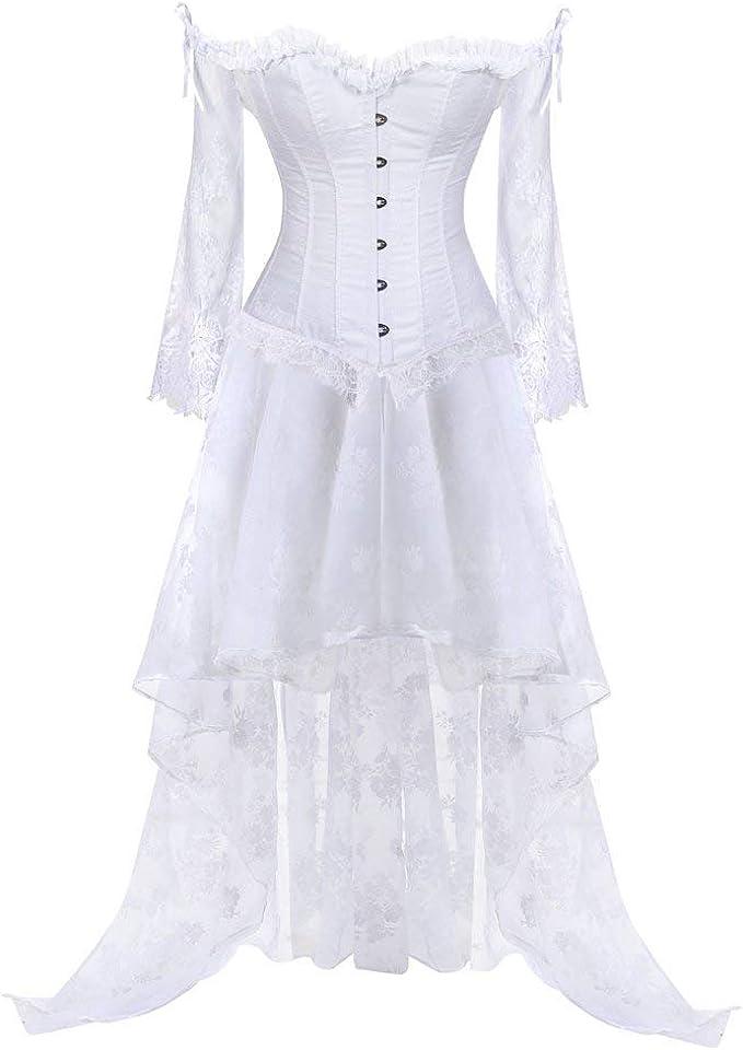 Vestido De Corsé Para De Vestido Corsé Mujer Gótico Falda Ropa ...