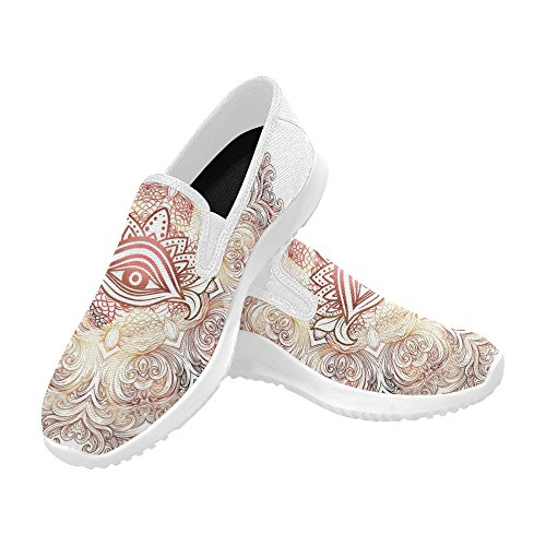 D-story Zapatos Fashion Slip-on Mujeres Canvas Sneakers Mandala