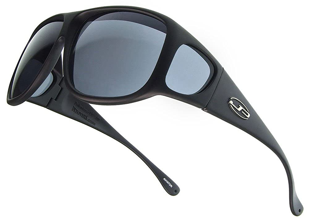 9f33be5132f Amazon.com  Aviator JP Fitovers - Matte Black - Grey Lens (AV001)  Shoes