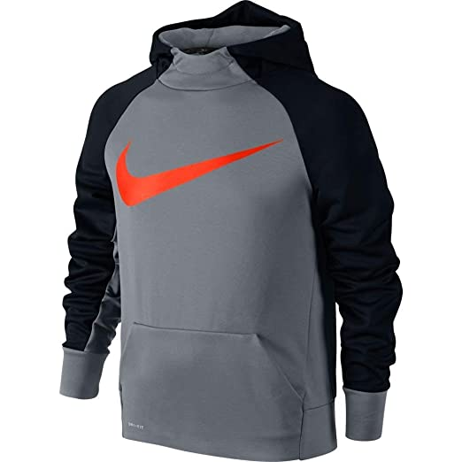 3ac0336d5d Amazon.com  Boys  Nike Therma Training Hoodie  Clothing