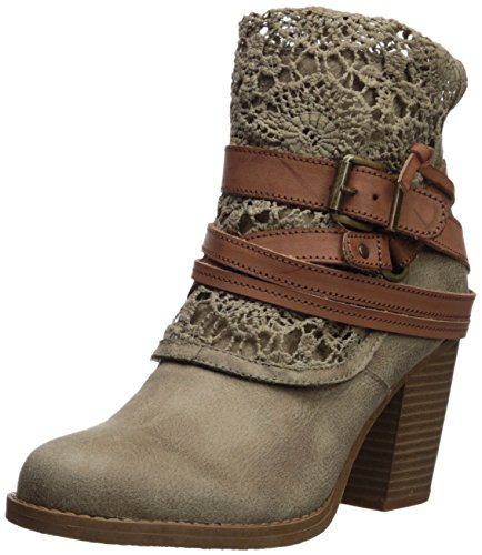 Sugar Women's Sgr-Puzzled Ankle Boot, Dark Natural Distressed Fabric, 8.5 Medium US - Junior Boots