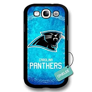 NFL Team Logo For SamSung Galaxy S3 Case Cover - Custom Personalized Carolina Panthers Hard Plastic For SamSung Galaxy S3 Case Cover - Black01